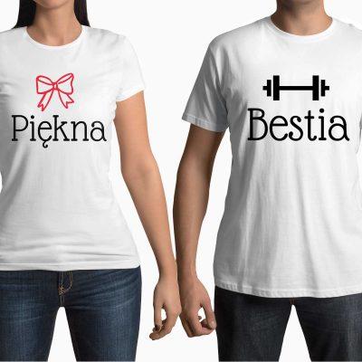 koszulka-dla-pary-piekna-bestia-ddshirt