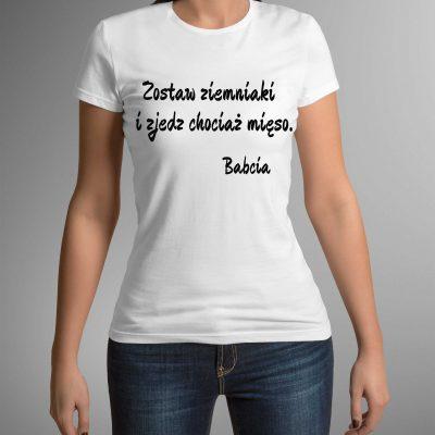 koszulka-z-nadrukiem-babcia-mieso-b-ddshirt