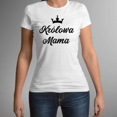 koszulka-z-nadrukiem-królowa-mama-b-ddshirt