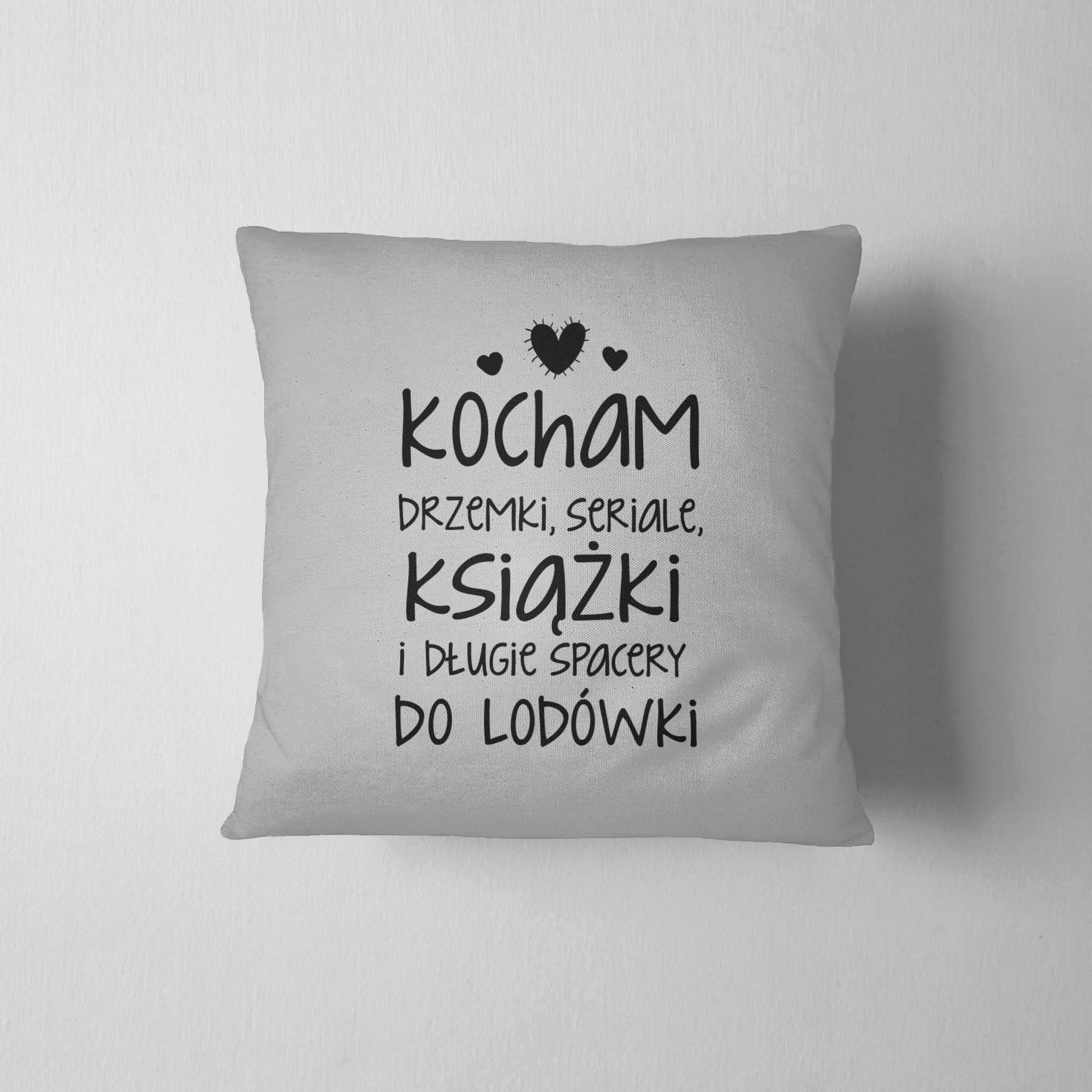 Fantastyczny Kocham drzemki, seriale i książki - poduszka dekoracyjna - DDshirt IX79